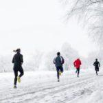 running en laponie sur neige glace et lac gele finlande 2021 2022