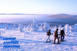 randonnee raid excursion raquettes laponie finlande